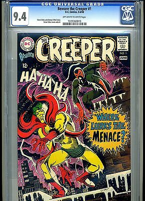 Cgc Beware The Creeper, D.c Ditko, 1 Nm 9.4 1968 1039360013 Ow-White