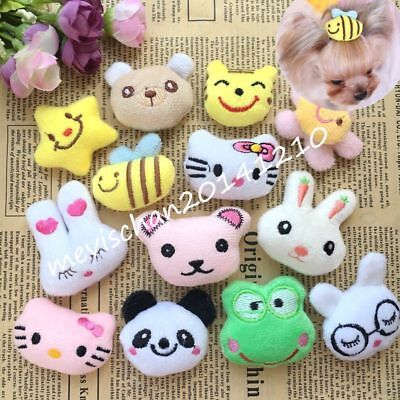 10PCS Dog Small Pet Hair Clips Accessories Cat dogs Hairpin Grooming Bowknot Lot