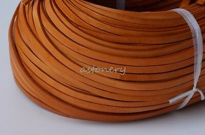 10 Yards Genuine Superior Calf Lace Natural ,Genuine Leather Cord, Lace 5*2mm
