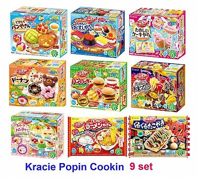 NEW Kracie Popin Cookin 9 Item Bundle with Sushi, Hamburger, Bento, and More f/s