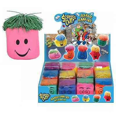 Stress Ball Squeeze Moody Funny Face Reliever Schools Out Rubber Hair Flour Kids