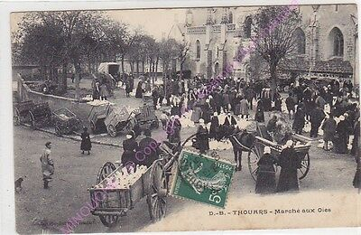 CPA 79100 THOUARS Marché aux oies animation ca1909