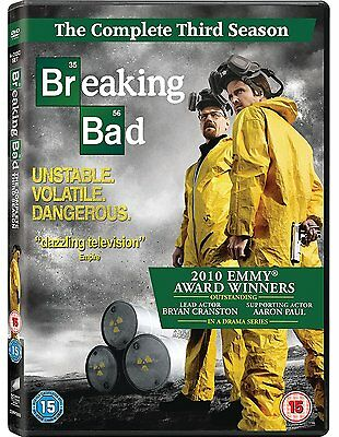 BREAKING BAD COMPLETE SERIES 3 DVD Brand New and Sealed Season UK Release