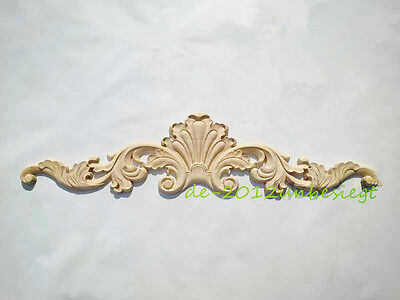 NEW Unpainted Wood Oak Carved Corner Onlay Applique Furniture Home Decor