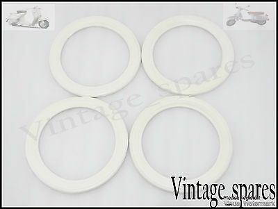 New Vespa White Walls 10'' 4 Pieces For 2 Tyres