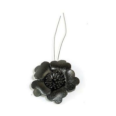 Hobby & Crafting Fun Real Leather Flower - 32mm 1pc