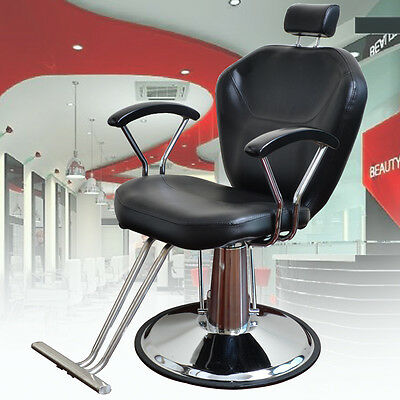 Salon Barbers Barber Chair Styling Tattoo Threading Beauty Hairdresser NEW Black