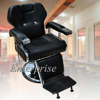 Barber Chair Salon Hydraulic Reclining for Hairdressing Tattoo Threading Shaving