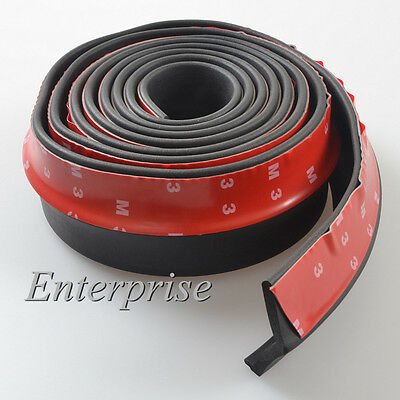 "Universal 100"" Car Lip Skirt Protector Front Bumper Spoiler Side Splitter Rubber"