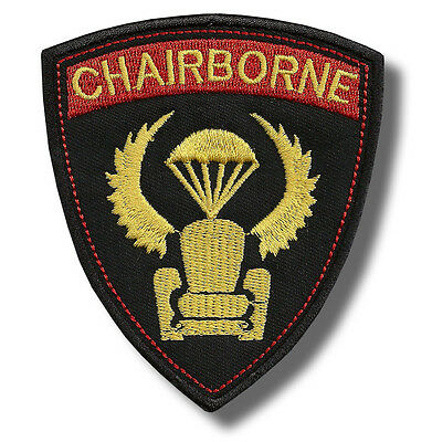 Chairborne - embroidered patch, dimensions 8 X 10 cm.