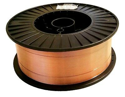 "Two 11 Lb Rolls .035"" Mild Steel MIG Welding Wire ER70S-6 Spool"