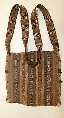 Pre-Columbian Peruvian Woven Coca Leaf Bag - Chancay? - Very Good Condition