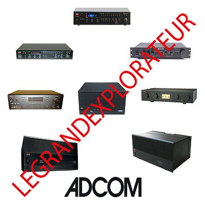 Ultimate  ADCOM  Owners, Repair  &  Service  manuals  (PDFs manual s on DVD)