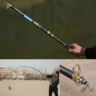 2016 New Fishing Rods Telescopic Carbon Fish Pole Equipment Spinning Rod
