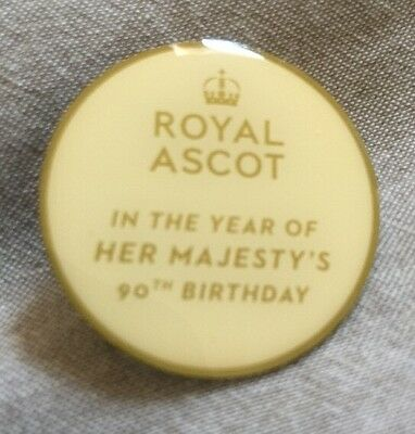 Royal Ascot Her Majesty's 90th Birthday PIN BADGE