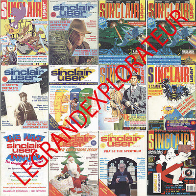 Ultimate  Sinclair User  Magazines Collection    (137 Pdfs manual on NEW DVD)
