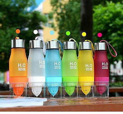 H2O Fruit Infuser Fuzer Infusing Water Bottle For Gym Sports Bike Running Camp