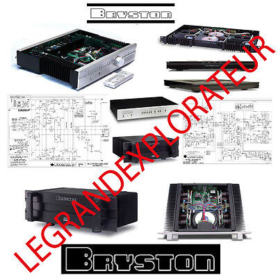 Ultimate Bryston  Owner, Repair Service Manuals & Schematics (PDFs manual s DVD)