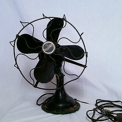 VTG Westinghouse Oscillating Fan 315745 A Electric 4 Blade Antique Art Deco MCM