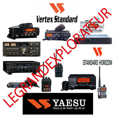 Yaesu Vertex  Standard Horizon  Operation Repair Service manual    630 on DVD