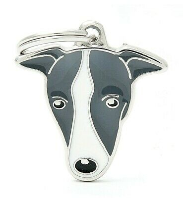 Greyhound Whippet Lurcher - Dog ID Tag - Engraved FREE - Personalised Identity