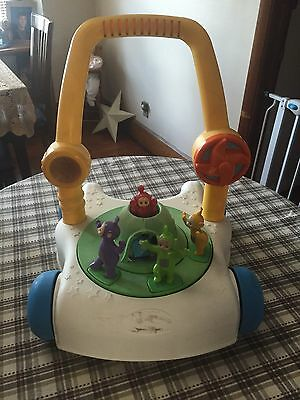 Retro Vintage 1999 Teletubbies Learn To Walk Push Behind Interactive Walker Rare