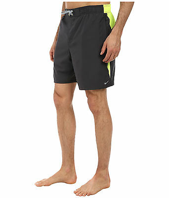"""NWT Men's Nike Core Envince 7"""" Volley Shorts Swim Trunks Anthracite S XL"""