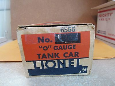 Lionel -  O Scale -   Tank Car   # 6555  Box Only