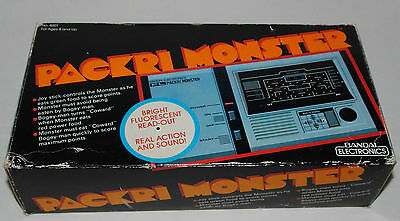 *vintage Packri Monster (Pacman) Handheld/tabletop Game By Bandai In Box/boxed*