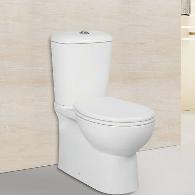 6009B Special Toilet Suite Back To Wall S TRAP Ceramic Bathroom Soft Close Seat