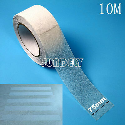 "3"" Clear Anti Slip Tape Grip Adhesive Sticky Backed Non Slip Safety Flooring 10M"