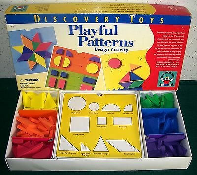 Discovery Toys PLAYFUL PATTERNS Design Activity Set - 120 Foam Pieces + Cards