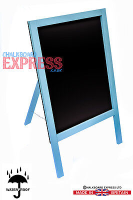 Waterproofed Chalkboard Menu Board Pavement Display Sign Aqua 1000mm x 610mm