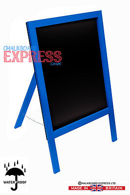 Waterproofed Chalkboard Menu Board Pavement Display Sign Blue 1000mm x 610mm