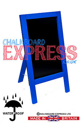 Waterproofed Chalkboard Menu Board Pavement Display Sign Blue 800mm x 410mm
