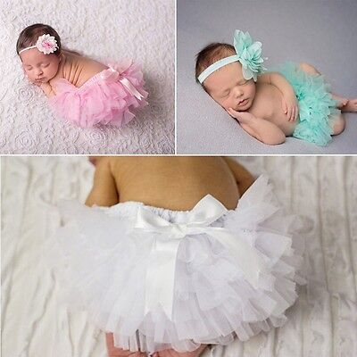 Lovely Toddler Baby Infant Girl Ruffle Bloomer Nappy PP Pants Diaper Cover 2Pcs