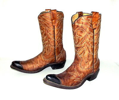 Texas Imperial Cowboy Boots Sz 4 D Vintage Youth Western Rockabilly Womens 5.5