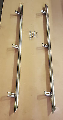 VW VOLKSWAGEN CADDY SIDE BARS -50mm Stainless Steel Sidebars - SILVER