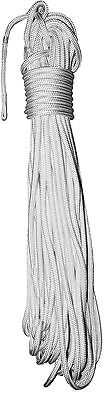 10mm x 25m Polyester Yacht Halyard or Sheet w/ Covered Eye Splice - Solid White