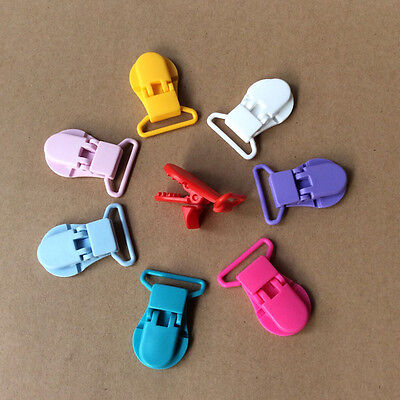 Brand New 10pcs Baby Plastic Pacifier Clips Soother Dummy Clips Pacifier Holder