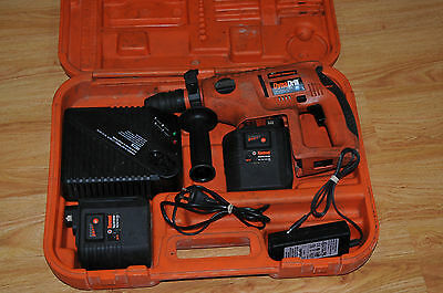 Ramset DynaDrill 524 Cordless Rotary Hammer Drill + Batteries + Charger + Case