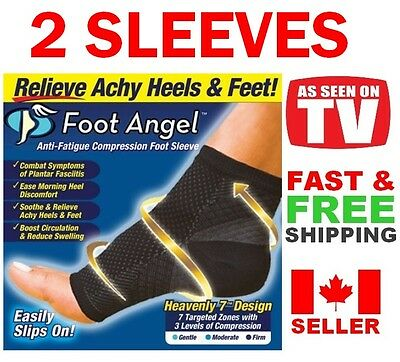 Foot Angel Anti-Fatigue Compression Foot Sleeve for Plantar Fasciitis Relief
