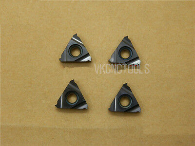 10Pc 16ER2.0 ISO (Pitch 2.0mm) ISO Metric External Carbide Threading Inserts