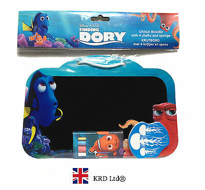 FINDING DORY Kids CHALKBOARD SET Birthday Toy Gift + 4 CHALKS + SPONGE + BOARD