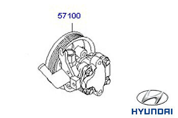 Genuine Hyundai Tucson Power Steering Pump - 571002E300