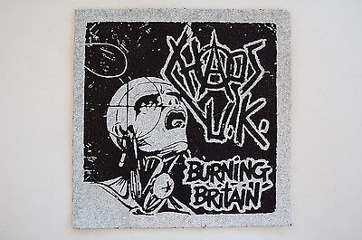 """Chaos UK Cloth Patch Sew On Badge Punk Rock Disclose Gauze Approx 5""""X5"""" (CP25)"""
