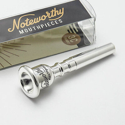 Genuine Noteworthy Silver Trumpet Mouthpiece, 1-1/2C NEW!