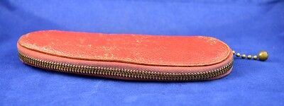 German Ww2 Wehrmacht Nco Soldier Leather Pencil Case From Map Case War Relic #1