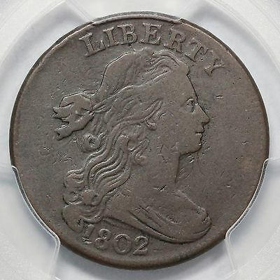 1802 S-227 R-2 PCGS VF 25 Draped Bust Large Cent Coin 1c