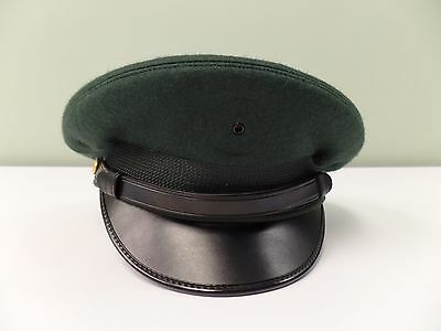 Kingform DeLuxe Cap Vintage Army Dress Hat Green Wool Military Size 7